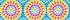Himmelblau Kaleidoskop Druck